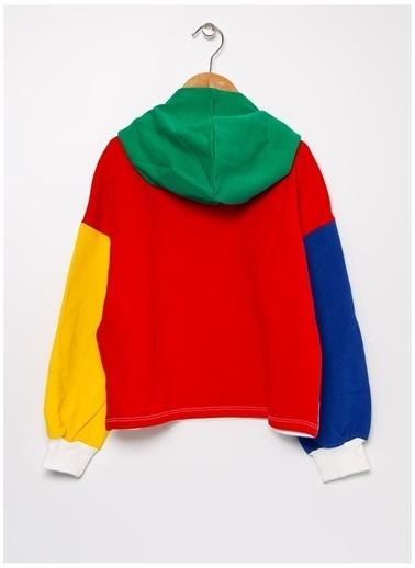Benetton Benetton Yazılı  Renkli Kız Çocuk Sweatshirt Renkli
